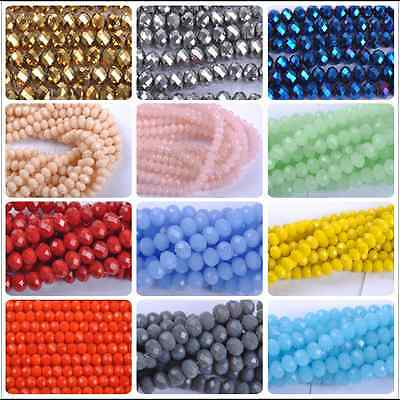 Wholesale Top Quality Czech Crystal Faceted Rondelle Spacer Beads 6MM 8MM 10MM