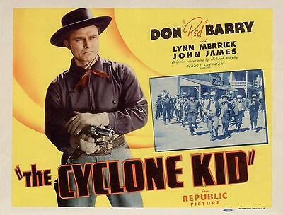 DON RED BARRY Great Close-Up Image THE CYCLONE KID 11x14 TC Print 1942