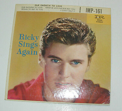 """RICKY NELSON, Old Enough To Love """"Never Be Anyone Else But You"""" +3   45rpm EP"""