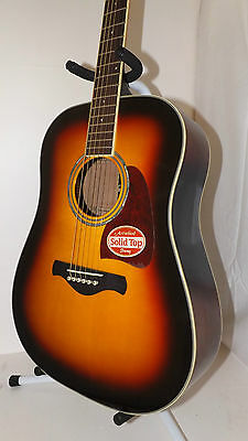 Ibanez Artwood AW300-VS Solid Top acoustic guitar MSRP $