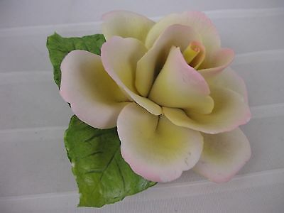 Napoleon Capodimonte porcelain yellow rose