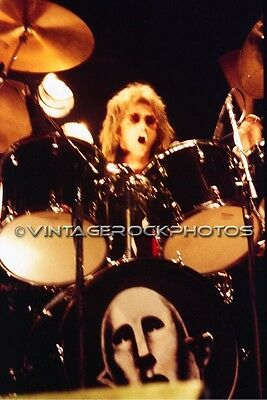 Roger Taylor, Queen Photo 8x12 or 8x10 inch '70s Live Concert from Negative 42b