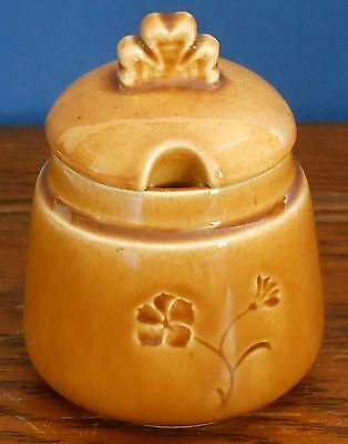 A lidded pot with shamrock pattern by Irish Ceramics and Crafts Co. Ltd.