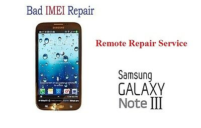 Bad IMEI Remote Repair Service for Blocked/Blacklisted SAMSUNG NOTE 3