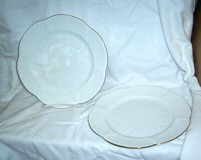 Shelley Dainty White Regency 2  Dinner  Plates