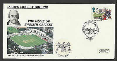 GB 1994 SUMMERTIME LORD'S CRICKET GROUND FDC Gloucestershire Pictorial Postmark