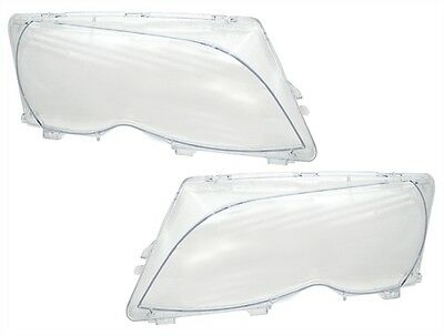 2 Vitre Phare Avant Pour Bmw Serie 3 E46 Berline + Touring Phase 2 2001 A 2005