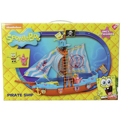 New Spongebob Squarepants Pirate Ship Boat Playset With Figures