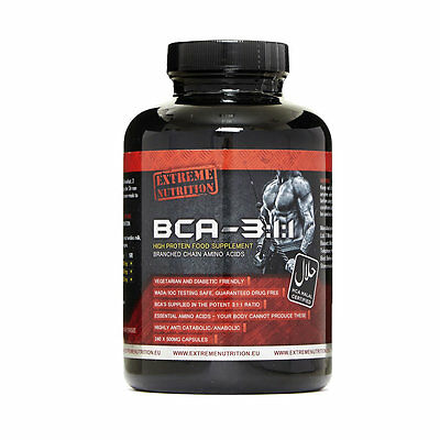 Extreme Nutrition Bca 3:1:1 Branch Chain Amino Acids - 240 Capsules