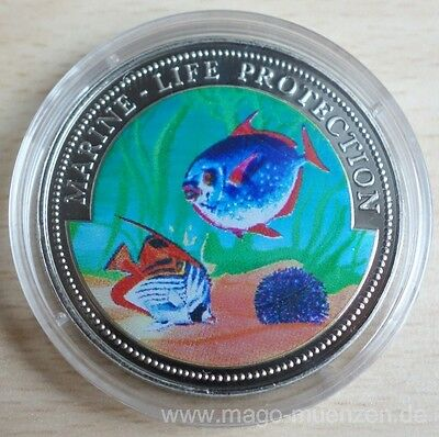 Ghana 10 Sika 1997 Marine Life Protection Korallenfische