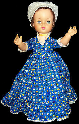 "1966 Lorrie 18"" Doll - Dressed in Handmade Colonial Outfit - VGC"