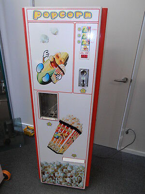 Hot Popcorn Vending Machine Coin Operated Big Money Maker Mostly Profit!