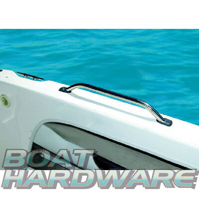 "1x 316 STAINLESS STEEL 18"" (457mm) MARINE HAND/GRAB RAIL - Boat/Yacht  22mm diam"