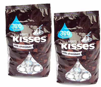 2x HERSHEY'S Kisses milk chocolate 56 OZ 1.58 kg Made in USA |Total 3.16kg  NEW