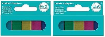 We R Memory Keepers Crafter's Colored Staples, Standard Size 3000 ct, 5 Colors