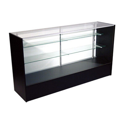 "Economy Black Glass Display Case Showcase 48"" L -  NEW YORK PICKUP ONLY"