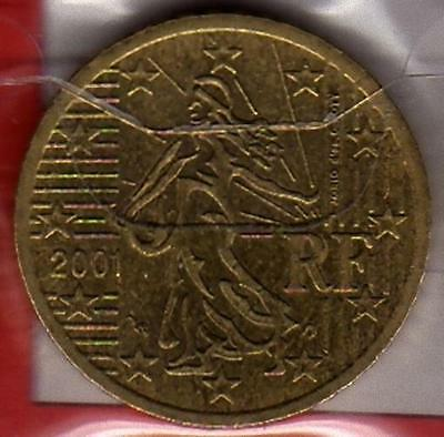 E477 Moneta Coin FRANCIA: 50 euro cent 2001