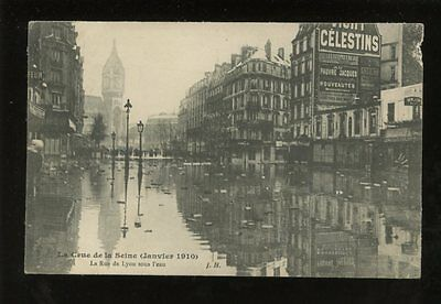 France PARIS Rue de Lyon Flood Disaster 1910 PPC