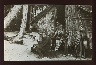 MALAYA Traditional House unlocated village RP PPC c1930s??