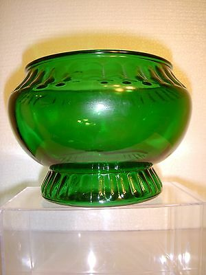 BEAUTIFUL DARK EMERALD GREEN VINTAGE NAPCO CANDY DISH CLEVELAND OH USA VASE