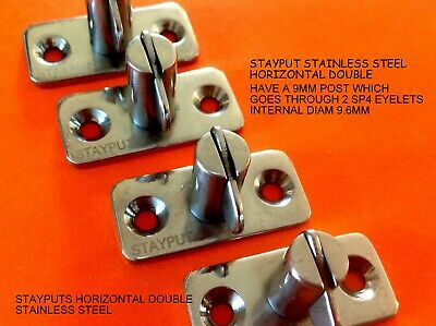 STAYPUT FASTENERS STAINLESS STEEL 316 GENUINE Marine Grd HORIZONTAL DOUBLE x 4
