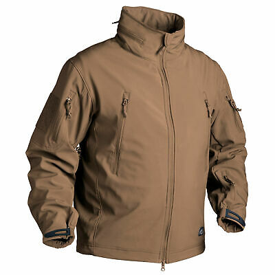 Helikon Tex GUNFIGHTER Jacket Shark Skin Windblocker Coyote Outdoor Fleece Teflo