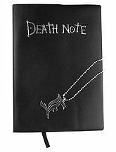 NEW Death Note Notebook Cosplay Book & Metal L Necklace Set **Free Ship**