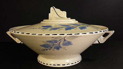 SPLENDID BURLEIGH WARE ZENITH DESIGN ART DECO SERVING TUREEN  FLORAL PATTERN