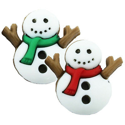 TFB - SNOWMAN SCARF STUD EARRING SINGLE Boys Mens Winter Cool Christmas Retro