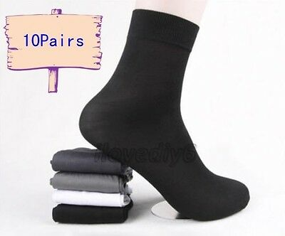 10 Pairs Man's Short Bamboo Fiber Socks Stockings Middle Socks 4 Colors