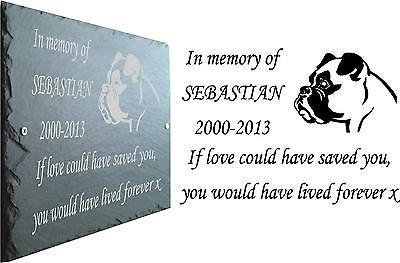 Pet Memorial Slate Plaque, Personalised for your Boxer Dog.