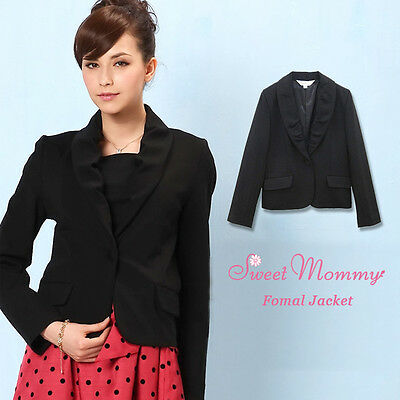 Elegante Giacca Premaman Nero Maternity Formal Jacket SJ3045