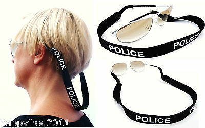 POLICE Spectacle Glasses Sunglasses Neoprene Stretchy Sport Head Band Strap Cord