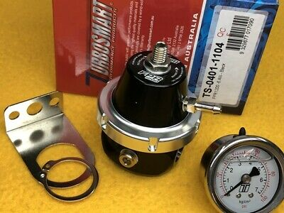 TURBOSMART E85 OK FPR1200 Fuel Pressure Regulator + Gauge Black AN6 port 1200 HP