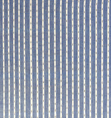 Antique 1900 Woven Stripe Fabric
