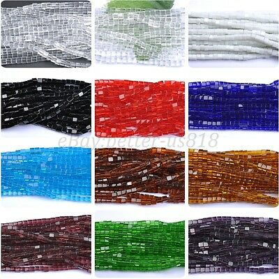 CUBE SQUARE Czech GLASS Crystal Beads Loose Beads Jewelry Makings 4MM 6MM 8MM