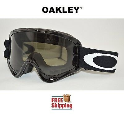 OAKLEY® GOGGLES MX ATV MOTOCROSS MOTORCYCLE OFF ROAD O FRAME® JET BLACK TINTED