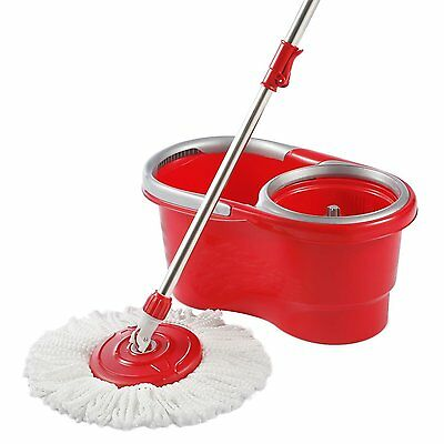 Woodsam Spin Mop Bucket Included Lightweight & Ergonomic Design Cleans Perfectly