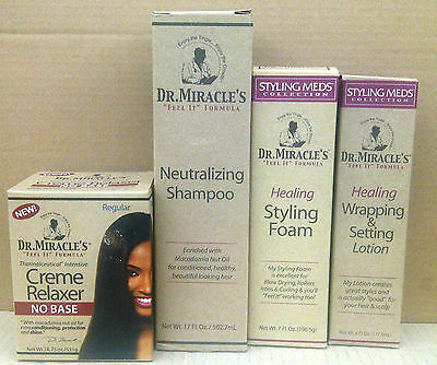 Dr Miracle's No Base Creme Relaxer Hair Products