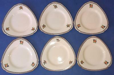 "Burleigh Ware ""Shape 733381"" Tea Plates x6 (14.75cm) In Good Condition"