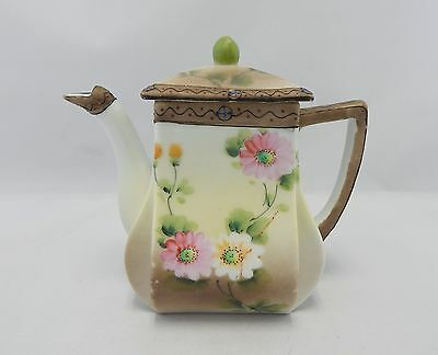 Vintage Nippon Hand Painted Tea Pot with Moriage