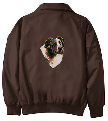 Australian Shepherd Embroidered Jacket - Jacket Back - Sizes XS thru XL