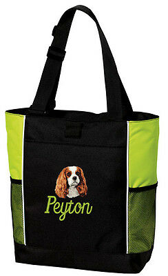 Cavalier King Charles Spaniel Embroidered Panel Tote