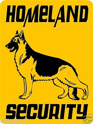 "GERMAN SHEPHERD  DOG SIGN, SECURITY SIGN,9""x12"" ALUMINUM, WARNING SIGN, 3269Y2"