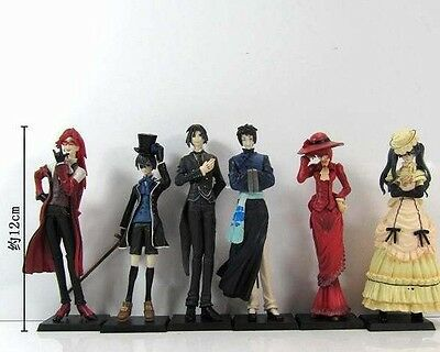 Sale Set of 6 Japan Anime Black Butler Kuroshitsuji Action Figure Ceil Doll Gift