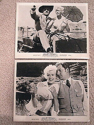 THE SHERIFF OF FRACTURED JAW 1959 JAYNE MANSFIELD/MORE  LOT OF 2 ORIGINAL STILLS