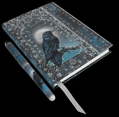 18 X 13CM EMBOSSED BOOK OF SHADOWS JOURNAL WITH PEN (17cm) by Luna (raven)