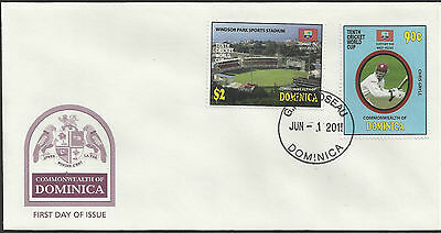 DOMINICA 2011 ICC 10th CRICKET WORLD CUP Chris Gayle Set 2v FIRST DAY COVER
