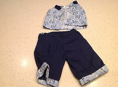 """Vintage Terri Lee Doll Clothes  Fits 16"""" Doll Knickers & top Bicycle Pants Shirt"""
