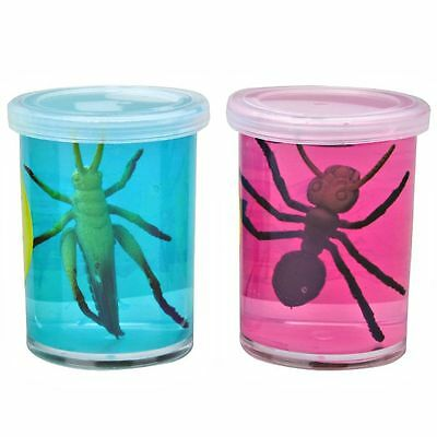 Plastic Insect in a Pot Full of Slime - Fun Pocket Money Toy
